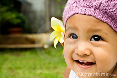 Baby cute smile