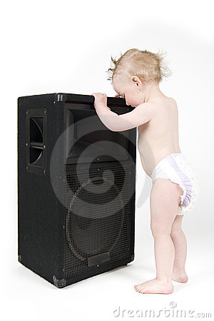 Free Baby Dancing With The Reproducer Royalty Free Stock Photos - 14280138