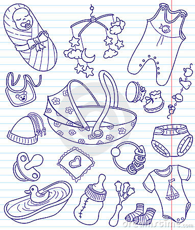 Free Baby Doodles Stock Photos - 12804003