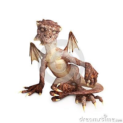 Free Baby Dragon Royalty Free Stock Photos - 30585068