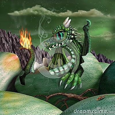 Baby Dragon Stock Illustration Image 45556803