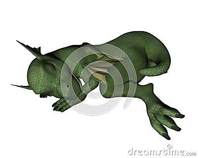 Baby Dragon - sleeping