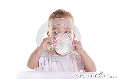 Baby drink milk