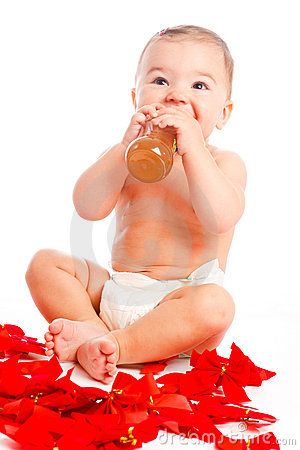 Baby drinking