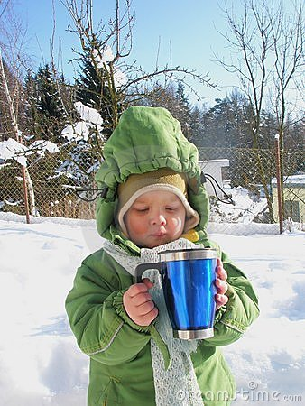 Baby Drinking Hot Beverage Stock Photos - Image: 23151233