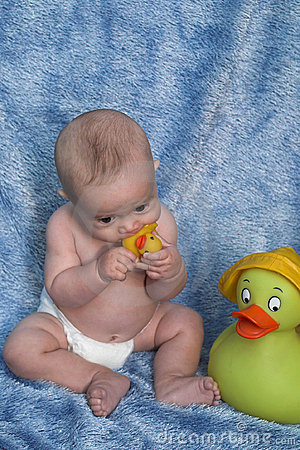 Baby and Ducks