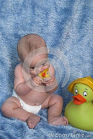 Baby and Ducks