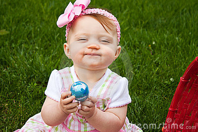 Baby Easter Closeup Smirk