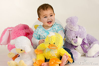 Baby and Easter Stuffed Animals