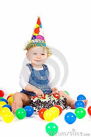 Baby Eating Cake Clipart : Baby Eating Cake Royalty Free Stock Photo - Image: 19219785
