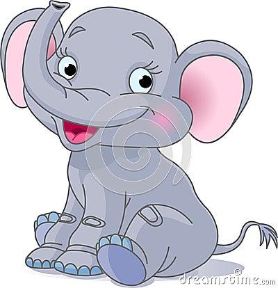 Free Baby Elephant Royalty Free Stock Photos - 12121258
