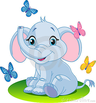 Free Baby Elephant Stock Photo - 13442360