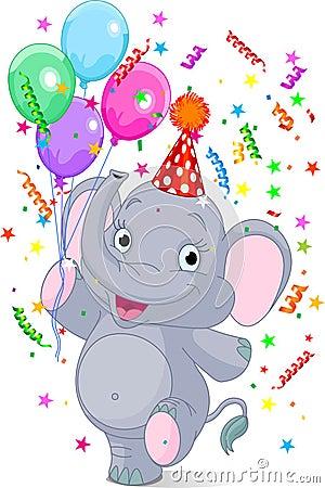 Free Baby Elephant Birthday Royalty Free Stock Image - 17473406