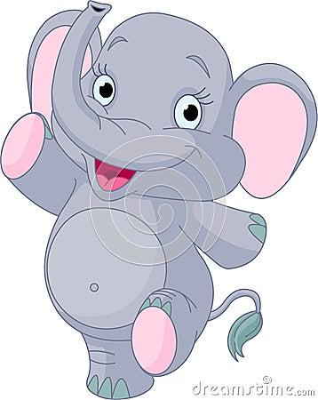 Free Baby Elephant Dancing Royalty Free Stock Photo - 16852215