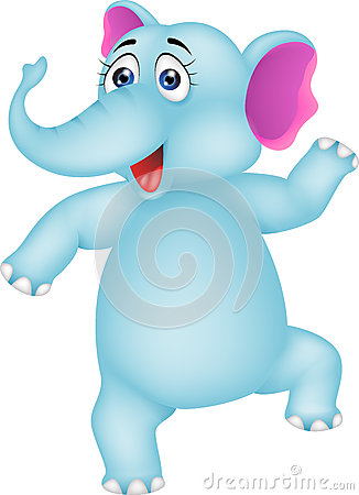 Free Baby Elephant Dancing Stock Photo - 28761760