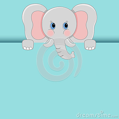 Free Baby Elephant Peeking Out Royalty Free Stock Photography - 82918157