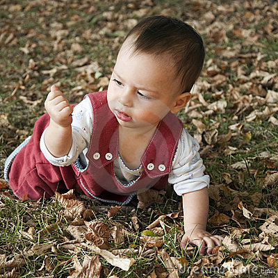 Free Baby Exploring Stock Photography - 11109892