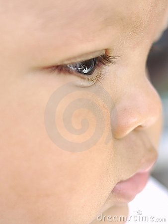 Baby face profile eye