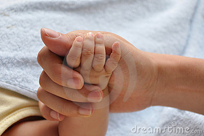 Baby and father s hands