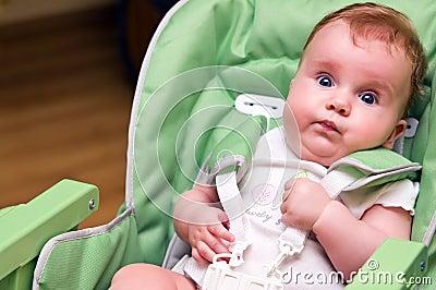 Baby in feeding chair