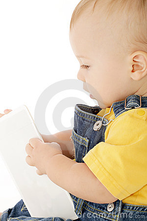 Baby with Flash Card