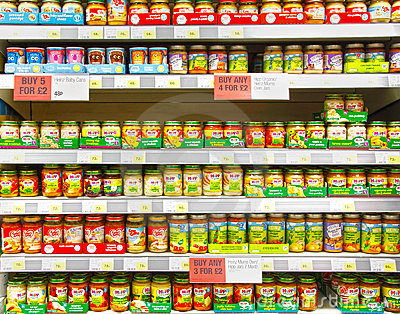 Baby food Editorial Stock Image