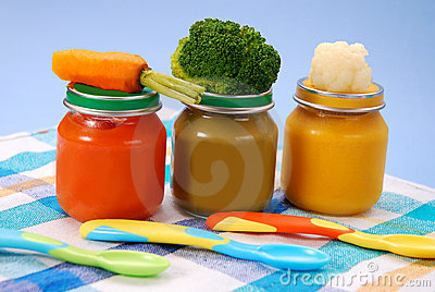 Baby food in jars