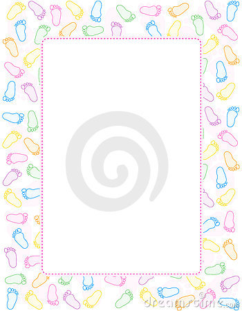 baby footprint border stock images image 17257224