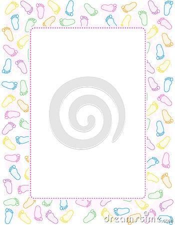 Free Baby Footprint Border Stock Images - 17257224