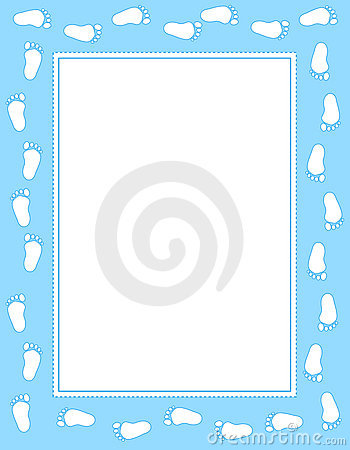 Baby footprint border