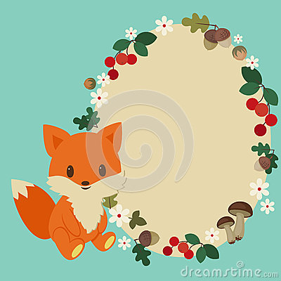 Free Baby Fox Frame Stock Images - 39552164