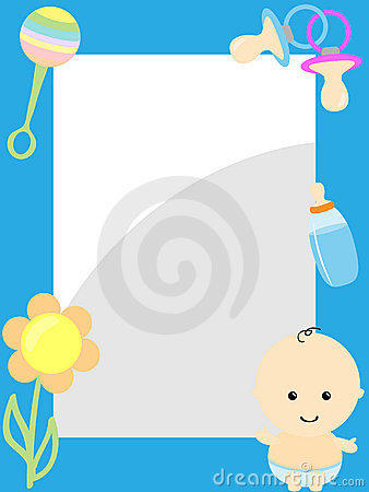 photo frame with baby item royalty free stock images image 21483669