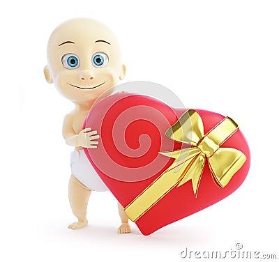 Baby gift heart