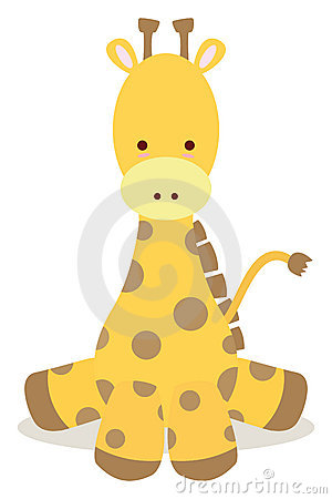 Free Baby Giraffe Stock Images - 17106894