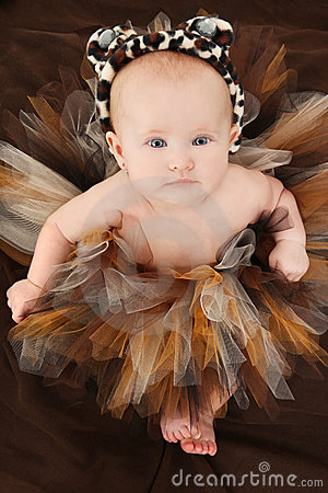 Baby Girl in Animal TuTu