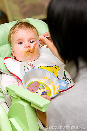 Baby Girl Appetite Stock Photography - Image: 16170792