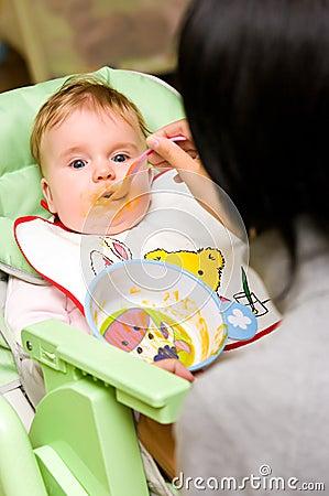 Baby girl appetite