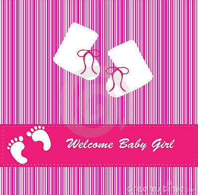 New Baby Girl Arrival Announcement Royalty Free Images – Baby Arrival Announcement Messages