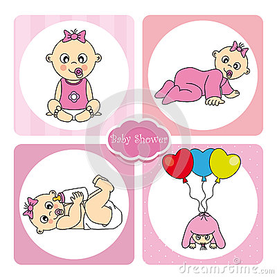 Royalty Free Stock Photography: Card baby girl