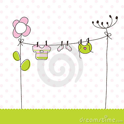 Free Baby Girl Arrival Announcement Cards Stock Images - 12805024