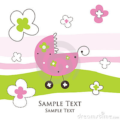 Free Baby Girl Arrival Card Stock Photos - 11433023
