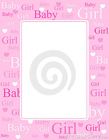 Free Baby Girl Arrival Card / Background Stock Images - 17257184
