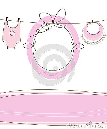 Baby girl arrival design