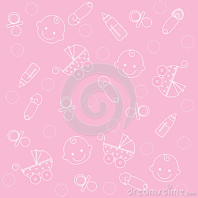 Free Baby Girl Background Stock Images - 9975924