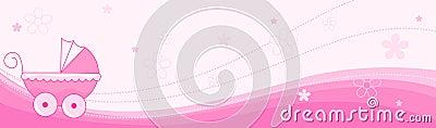Baby girl banner / header