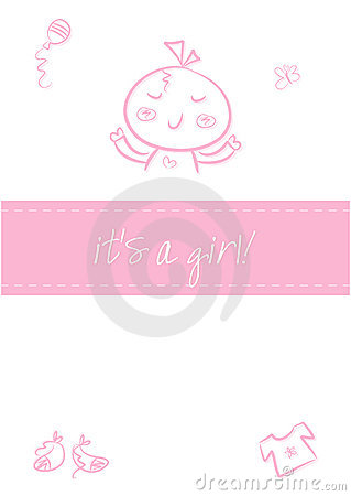 Baby girl - Birth Announcement