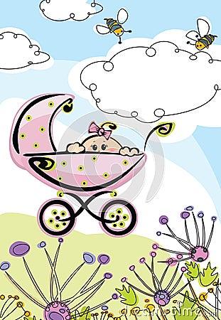 Baby girl, card