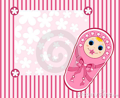 Baby girl card 2.