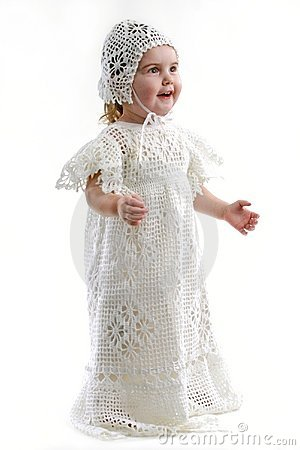 Baby Girl in Christening Gown