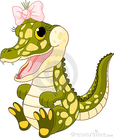 Free Baby Girl Crocodile Royalty Free Stock Images - 19512709